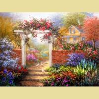 """Схема для вышивания лентами  ASTREA """"Великолепный сад"""""""