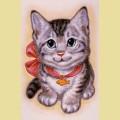 Набор алмазной вышивки АЛМАЗНАЯ ЖИВОПИСЬ «Кот с бантом»