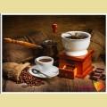 Алмазная вышивка камнями АЛМАЗНАЯ ЖИВОПИСЬ «Кофейный натюрморт»