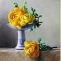 Набор алмазной вышивки  АЛМАЗНАЯ ЖИВОПИСЬ «Желтые пионы»