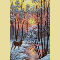 """Картина стразами Вышиваем бисером """"В лесу"""""""