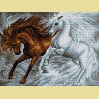 """Картина стразами Вышиваем бисером """"Лошади"""""""