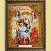 Набор алмазной вышивки  АЛМАЗНАЯ ЖИВОПИСЬ «Икона Достойно есть»