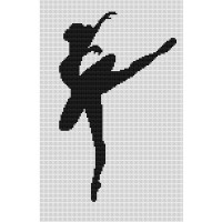 """Набор для вышивания крестом LUCA-S """"Балерина"""""""