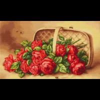 Набор для вышивания Корзина с розами