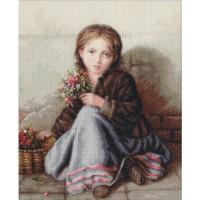 Набор для вышивания Девочка с цветами