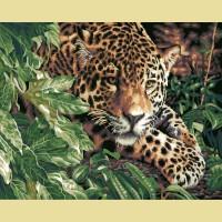 "Картина по номерам PAINTBOY ""Леопард на охоте"""