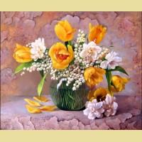 """Картина по номерам PAINTBOY """"Букет  с тюльпанами"""""""