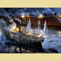 """Картина по номерам PAINTBOY """"Битва на море"""""""