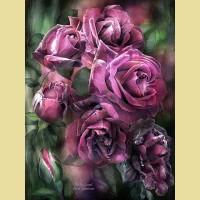 """Картина по номерам PAINTBOY """"Лиловые розы"""""""