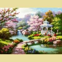 """Картина по номерам PAINTBOY """"Весенний парк"""""""