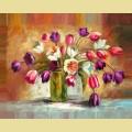 """Набор алмазной вышивки АЛМАЗНАЯ ЖИВОПИСЬ """"Цветы тюльпанов"""""""