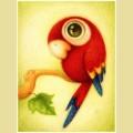 """Набор алмазной вышивки АЛМАЗНАЯ ЖИВОПИСЬ  """"Красный попугай"""""""