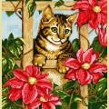 """Набор алмазной вышивки АЛМАЗНАЯ ЖИВОПИСЬ """"Котенок в цветах"""""""