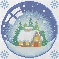 """Набор алмазной вышивки  АЛМАЗНАЯ ЖИВОПИСЬ """"Новогодний шарик с домиком"""""""