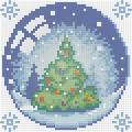"""Набор алмазной вышивки  АЛМАЗНАЯ ЖИВОПИСЬ """"Новогодний шарик с елкой"""""""