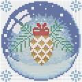 """Набор алмазной вышивки  АЛМАЗНАЯ ЖИВОПИСЬ """"Новогодний шарик с шишкой"""""""