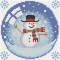 """Набор алмазной вышивки  АЛМАЗНАЯ ЖИВОПИСЬ """"Новогодний шарик со снеговиком"""""""