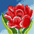 """Набор алмазной вышивки АЛМАЗНАЯ ЖИВОПИСЬ """"Красный тюльпан"""""""