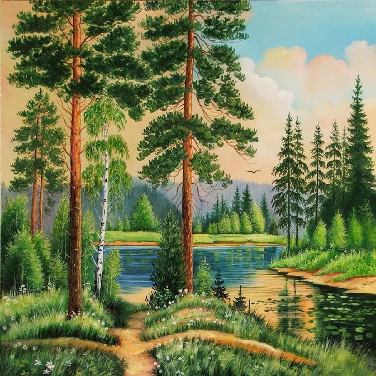 Картинки для вышивки природа