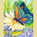 """Набор алмазной вышивки АЛМАЗНАЯ ЖИВОПИСЬ """"Бабочка и цветок"""""""