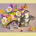 """Набор алмазной вышивки АЛМАЗНАЯ ЖИВОПИСЬ """"3 котенка"""""""