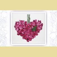 """Набор для вышивания нитками ASTREA  """"Фиолетовое сердце. Май"""""""