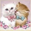 Набор алмазной вышивки АЛМАЗНАЯ ЖИВОПИСЬ «Кот и кошка»