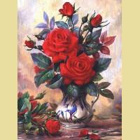 Набор алмазной вышивки АЛМАЗНАЯ ЖИВОПИСЬ «Прекрасные розы»