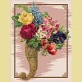 Набор алмазной вышивки АЛМАЗНАЯ ЖИВОПИСЬ «Букет в плетеном рожке»