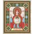 """Картина стразами АРТ СОЛО """"Нерушимая стена образ Пресвятой Богородицы"""""""