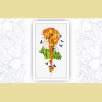 """Набор для вышивания нитками ASTREA  """"Девушка Весна"""""""
