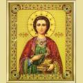"""Набор картины со стразами ЧАРИВНА МИТЬ """"Икона великомученика и целителя Пантелеймона"""""""