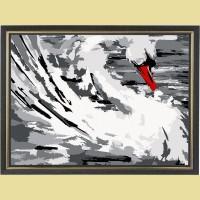 """Открытка по номерам COLOR KIT """"Белый лебедь"""""""