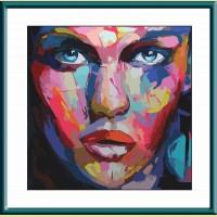 """Картина по номерам COLOR KIT """"Абстрактный портрет женский"""""""