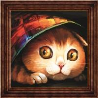 "Открытка по номерам COLOR KIT  ""Котишка-шалунишка"""