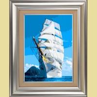 """Картина по номерам COLOR KIT """"Белые паруса"""""""
