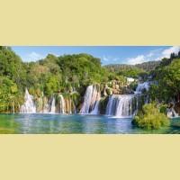 """Пазлы КАСТОР """"Водопады Крка, Хорватия"""""""