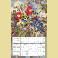 """Алмазная картина-календарь COLOR KIT """"Райские птички"""""""