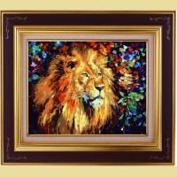 """Картина по номерам COLOR KIT """"Благородный лев"""""""