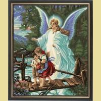 """Картина по номерам COLOR KIT """"Ангел Хранитель"""""""