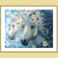 """Картина по номерам COLOR KIT """"Белые лошади"""""""