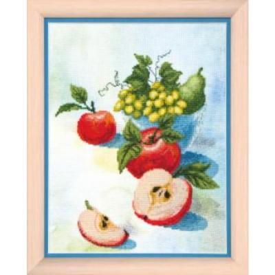 """Набор для вышивания крестом CRYSTAI ART """"Акварельные яблочки"""""""