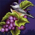 """Набор алмазной живописи ИМПЕРИЯ БИСЕРА """"Птичка на винограде"""""""