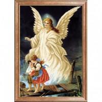 Схема для вышивания  Ангел с детьми