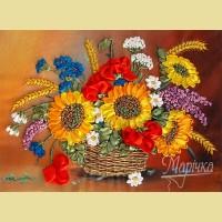 "Набор для вышивания лентами ТМ МАРIЧКА ""Корзина летних цветов"""