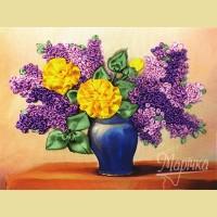 """Набор для вышивания лентами ТМ МАРIЧКА """"Желтые розы и сирень"""""""