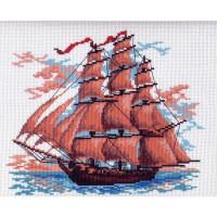 Рисунок на канве Алые паруса