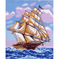 Рисунок на канве На всех парусах