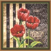 Набор для вышивания Красные тюльпаны